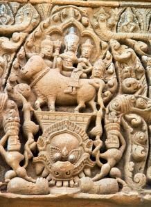 Shiva und Uma auf Nandi