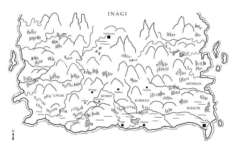 Landkarte Inagi