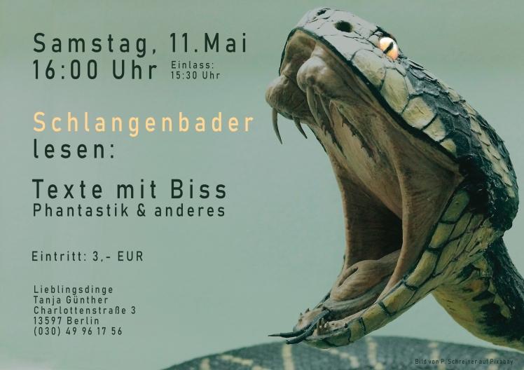 Plakat Lesung Lieblingsdinge Mai 2019 quer